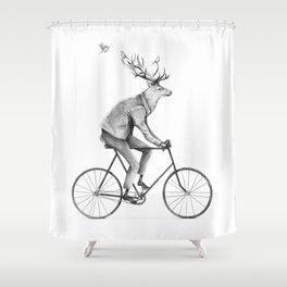 Even a Gentleman Rides Shower Curtain