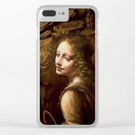 "Leonardo da Vinci Angel in ""The Virgin of the Rocks (London)"" Clear iPhone Case"