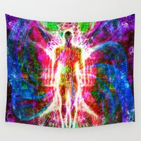 "matrix Wall Tapestries featuring ""The matrix "" by shiva camille"