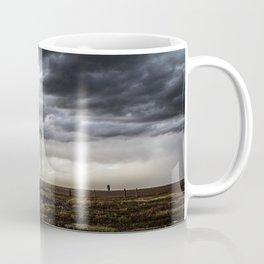 No Man's Land - Windmill on Stormy Day in Oklahoma Panhandle Coffee Mug