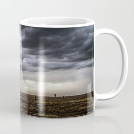 No Man's Land - Windmill on Stormy Day in Oklahoma Panhandle Coffee Mug