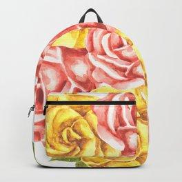 Pretty Watercolor Flowers Backpack