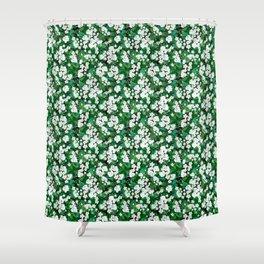 geranium print Shower Curtain