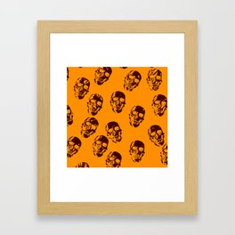 Hot skulls,orange Framed Art Print