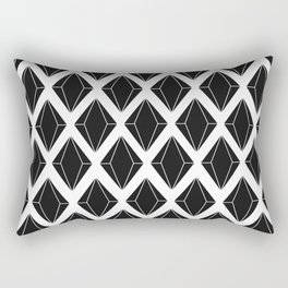 Shine bright like a diamond Black Rectangular Pillow