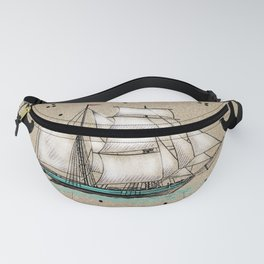 Vintage Nautical Fanny Pack