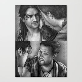 Nagron First Kiss (Spartacus) Canvas Print