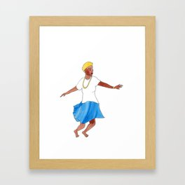 Honduras: Garifuna Punta Dancer (Latinx Heritage Month Series) Framed Art Print