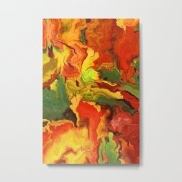abstract fall leaves Metal Print