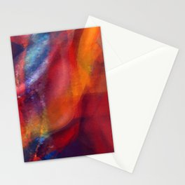 Dancing Colors Digital Painting Stationery Cards