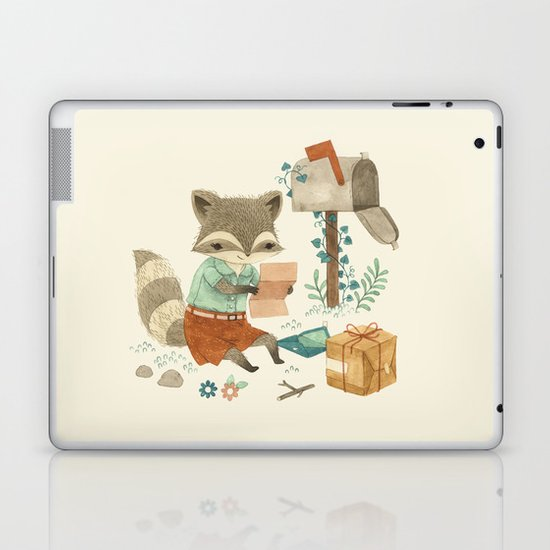 Raccoon Post Laptop & iPad Skin