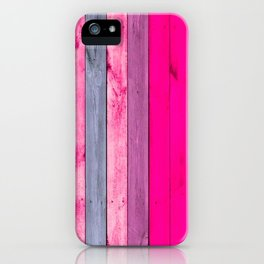 Colorful wooden design imitation iPhone Case