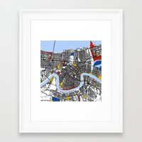 new orleans Framed Art Prints featuring New Orleans by Mondrian Maps