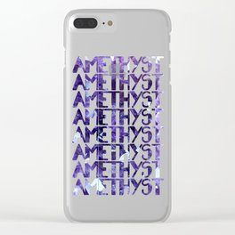 Raw Amethyst - Crystal Cluster Clear iPhone Case