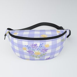 Spring picnic bouquets in Provence blue Fanny Pack