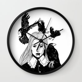 The Crows Wall Clock