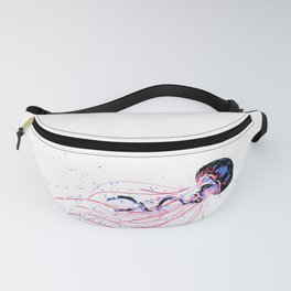 the dance - jellyfish and bubble (pink / purple) Fanny Pack