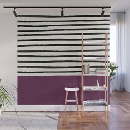 Plum x Stripes Wall Mural