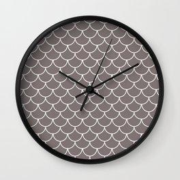 Warm Gray Scales Wall Clock