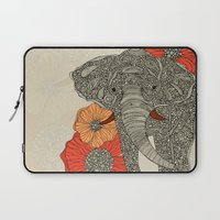 elephant Laptop Sleeves featuring The Elephant by Valentina Harper
