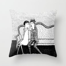 The Reading Lovers Throw Pillow