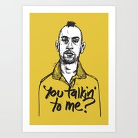 taxi driver Art Prints featuring Taxi Driver by Dave Flanagan