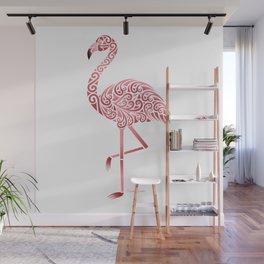 Funky Tribal Flamingo Wall Mural