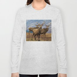 The four stags on the loch Long Sleeve T-shirt