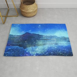 Surreal Blue Mountains Rug