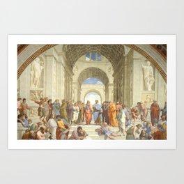 Raffaello Sanzio : The school of Athens Art Print