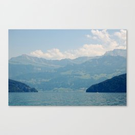 A Valley In Switzerland Canvas Print