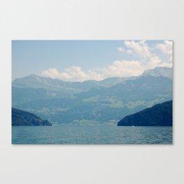 A Valley In Switzerland Canvas Print
