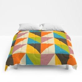 Retro Color Block Chevron Color Fun Comforters