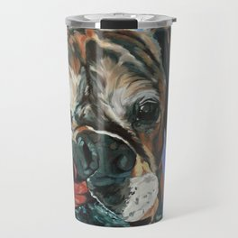 Baron the Boxer Dog Portrait Travel Mug
