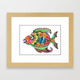 Belizean Moon Fish Framed Art Print