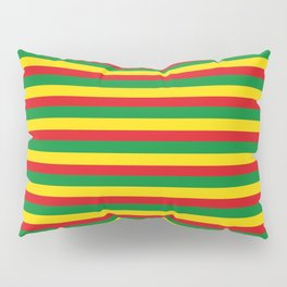 colorful rasta stripe pattern design Pillow Sham