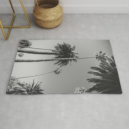Palm Trees (Black and White) Rug