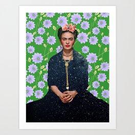 Flowers Frida Kahlo VI Art Print