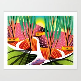 Sunset Curve Art Print