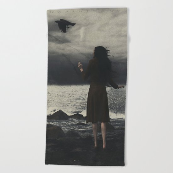 LOST AT SEA  Beach Towel