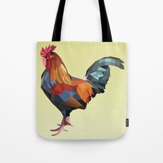 Geometric Rooster Tote Bag