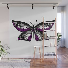 Fly With Pride: Asexual Flag Butterfly Wall Mural