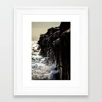 michigan Framed Art Prints featuring Michigan by Kim Yuseung