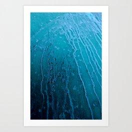 Frozen Lines Art Print