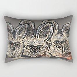 Bat Eared Fox (Charcoal) Rectangular Pillow