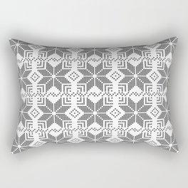 Gray and white Christmas pattern. Rectangular Pillow