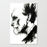 ezra koenig Canvas Prints featuring EZRA POUND by Dylan Burt