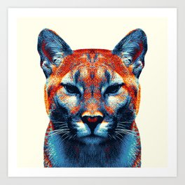 Puma -  Colorful Animals Art Print