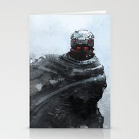 winter soldier Stationery Cards featuring Winter soldier by Kirk Pesigan