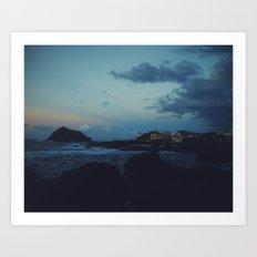 Sunset over Garachico, Tenerife Art Print